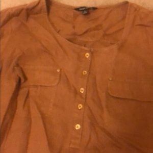 Light brown linen blouse